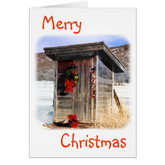 Christmas Greeting Card-Outhouse Card