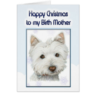 christmas greeting card, to birth mother with cute card