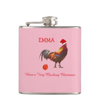 Christmas Greeting  | Chicken Christmas Greeting Hip Flask