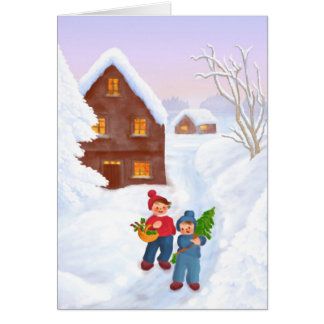 Christmas greeting map card