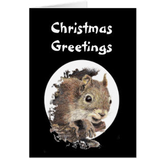 Christmas Greeting Original Nutcracker Squirrel Card