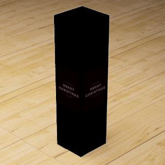 Christmas greeting wine box