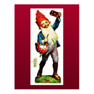 Christmas greeting with a guy beating drum and a l postcards