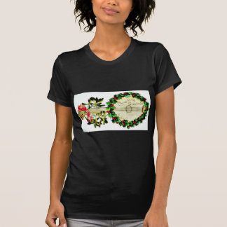 Christmas greeting with musical instrument decorat tee shirt