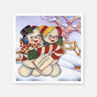 Christmas Greetings 3 Disposable Napkin