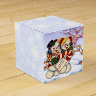 Christmas Greetings 3 Favor Box
