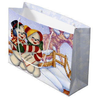 Christmas Greetings 3 Large Gift Bag