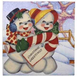 Christmas Greetings 3 Napkin