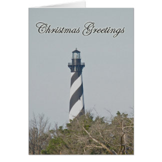 Christmas Greetings - Cape Hatteras Lighthouse Card