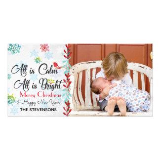 Christmas Greetings Custom Photo Card