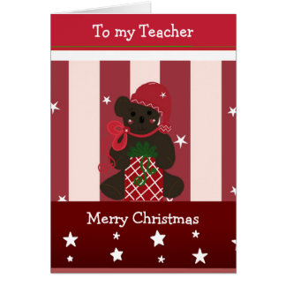 Christmas Greetings for my Teacher Greeting Card