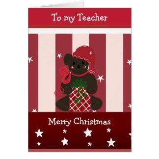 Christmas Greetings for my Teacher Greeting Card