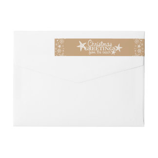 Christmas Greetings from Beach Vacation Wrap Around Label