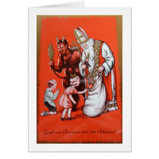 Christmas Greetings from Krampus and St. Nick! Card