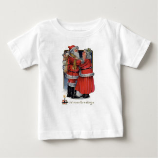 Christmas Greetings from Mr and Mrs Claus Baby T-Shirt