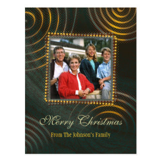 Christmas Greetings | Photo Template Postcard