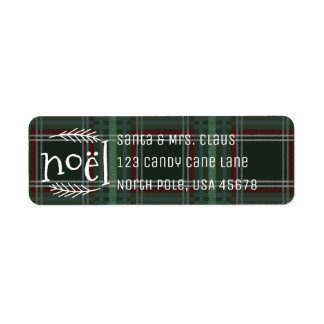 Christmas Greetings Return Address Label