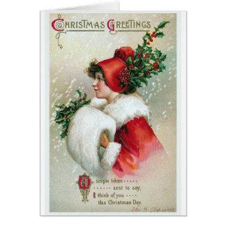 """Christmas Greetings"" Vintage Card"