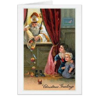 """""""Christmas Greetings"""" Vintage Christmas Card"""
