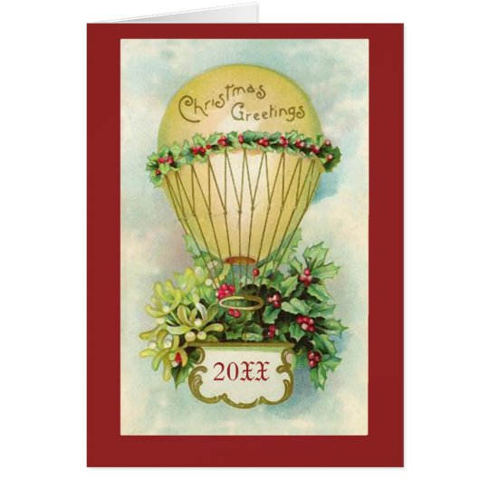 Christmas Greetings with Customizable Date Card