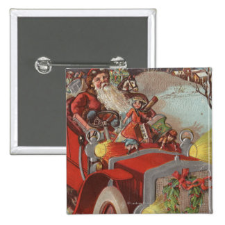 Christmas GreetingSanta in Car Pins