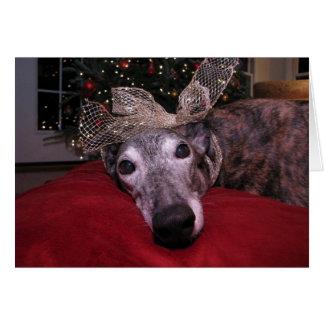 Christmas Greyhound Cheer Card