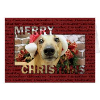 Christmas - Greyhound - Pena Card