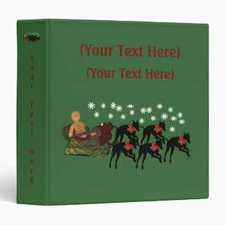 Christmas Greyhounds Sleigh Holiday Custom Binder