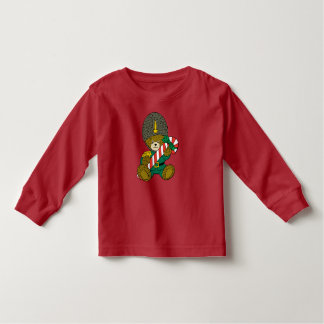 Christmas Guard Bear with Candy Cane Toddler T-shirt