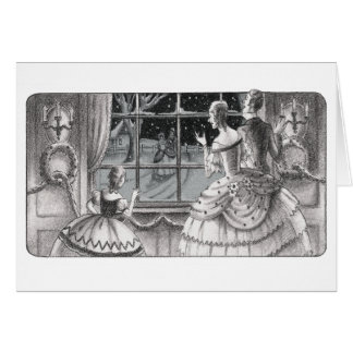 Christmas Guests with Hoop Skirts & Garlands Card