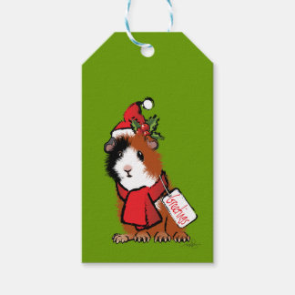 Christmas Guinea Pig Greeting Pack Of Gift Tags