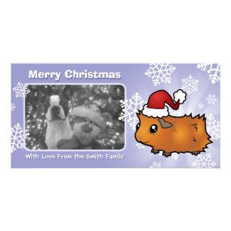 Christmas Guinea Pig (scruffy) Photo Cards