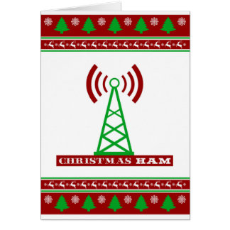 "Christmas HAM Radio ""Ugly Sweater"" card"