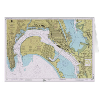 Christmas_Hanukkah Card _ San Diego Nautical Chart