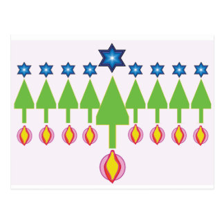 Christmas Hanukkah Chrismukkah Card Postcard