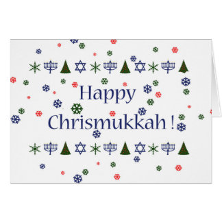 Christmas Hanukkah Combo Greeting Card