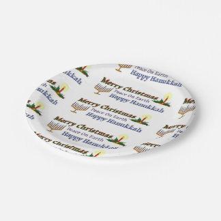 Christmas Hanukkah Paper Plate