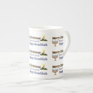 Christmas Hanukkah Tea Cup
