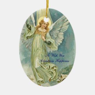 Christmas Happiness Angel Ornament