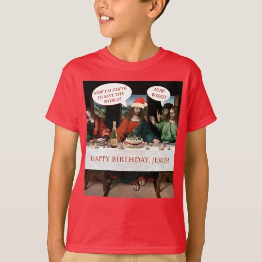 Christmas Happy Birthday Jesus Comics Style Funny T-Shirt
