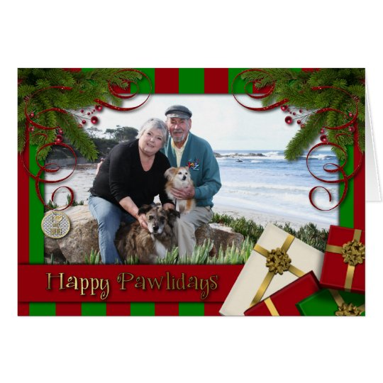 Christmas - Happy Pawlidays - Williams Photo 3 Card