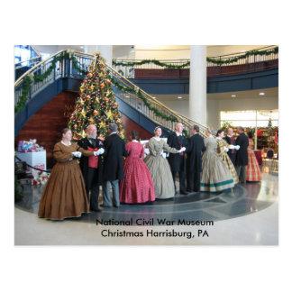 Christmas Harrisburg,PA National Civil War Museum Postcard