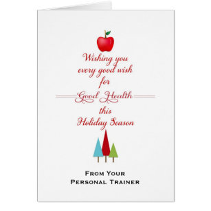 Healthy christmas cards photocards invitations more christmas health fitness greeting card apple card m4hsunfo