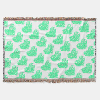 Christmas Heart Background Throw Blanket