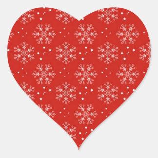 christmas heart sticker