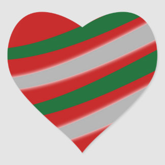Christmas Heart Sticker
