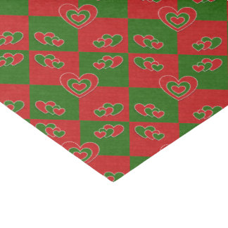 Christmas Heart Tissue Paper