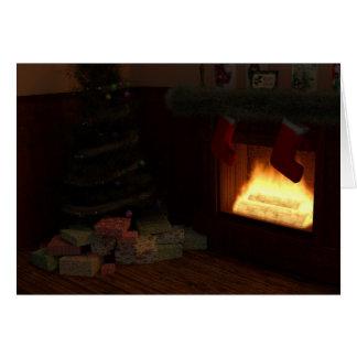 Christmas Hearth Card