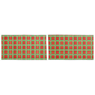Christmas Hearts Pair of Pillowcases, King Size Pillowcase