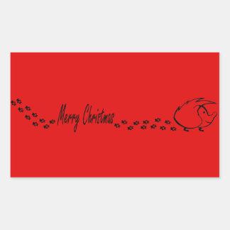 Christmas Hedgie Sticker